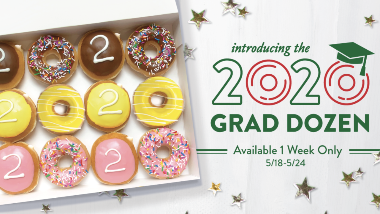 Krispy Kreme to honor 2020 seniors with free 'Graduate Dozen' doughnuts on May 19