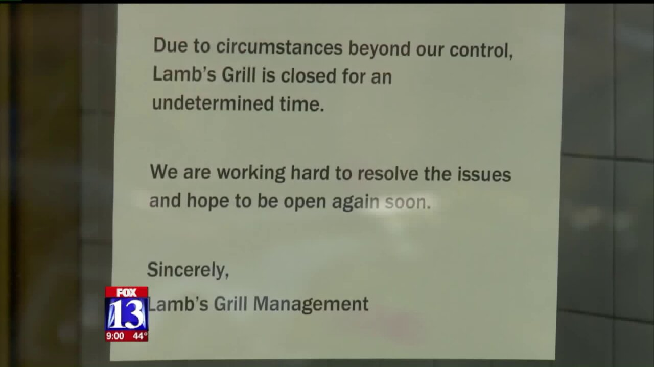 One of Utah's most historic restaurants closes itsdoors