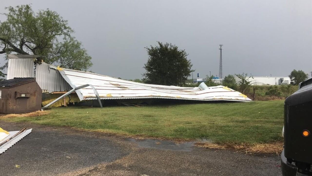 Heavy storms blow roof off of Central Texas Business