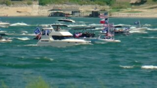 Boats participating in a Trump support parade sank on Sept. 5 on Lake Travis located northwest of Austin, Texas, officials say.