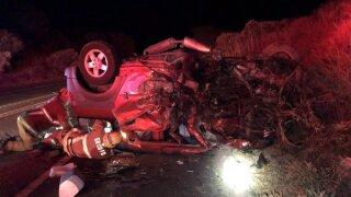 Deadly crash on Hwy 246 west of Buellton. Photo Courtesy: Santa Barbara County Fire