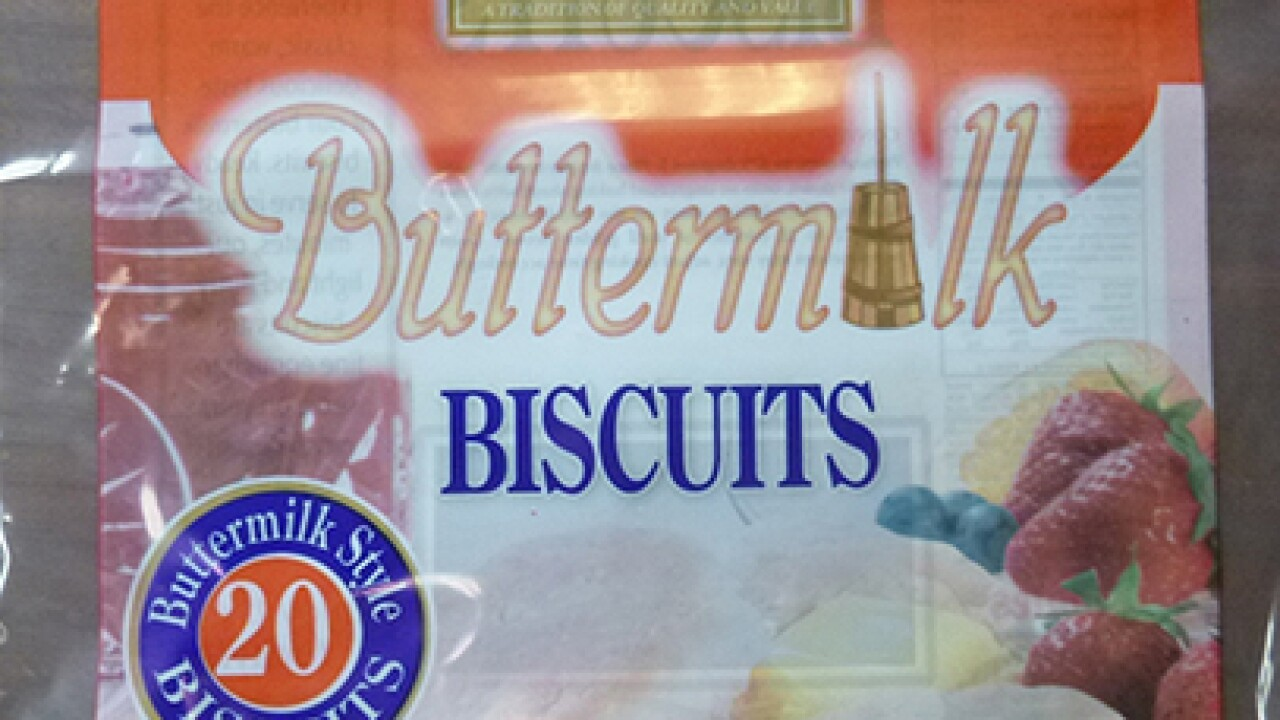 Several frozen biscuit brands recalled