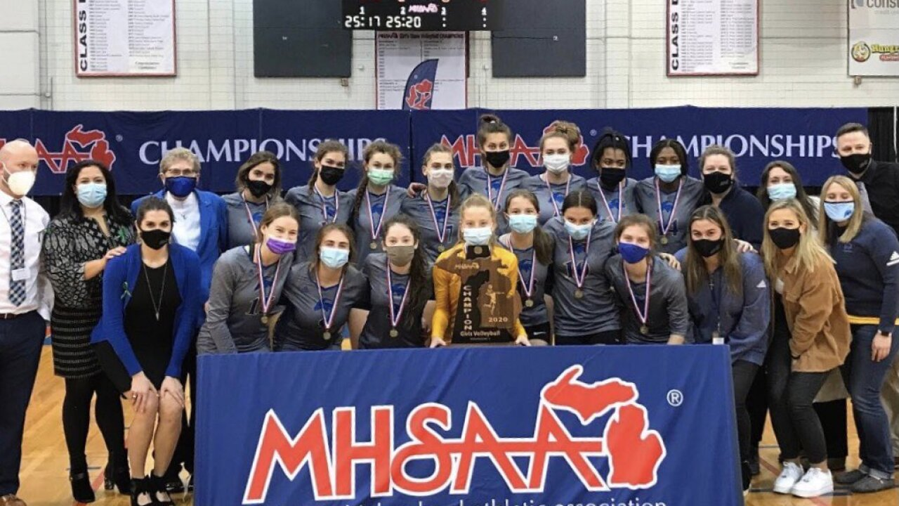 Marian Volleyball State Championship