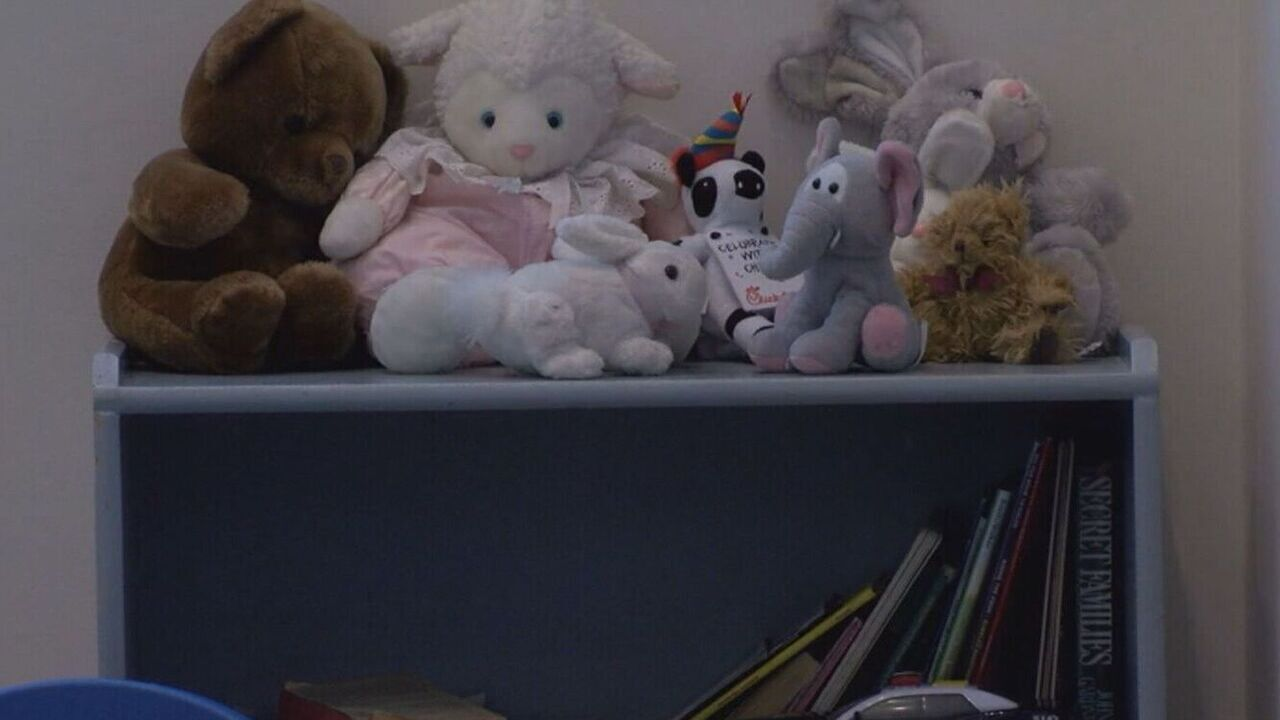 A set of toys set up inside the lobby at Pueblo Police Department's headquarters.