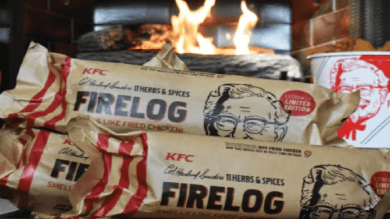 KFC Is Bringing Back Its Fireplace Log That Smells Like Fried Chicken