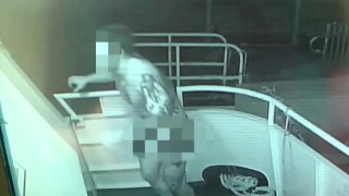 VIDEO: Naked crook targets Delray Beach yachts, steals American flag