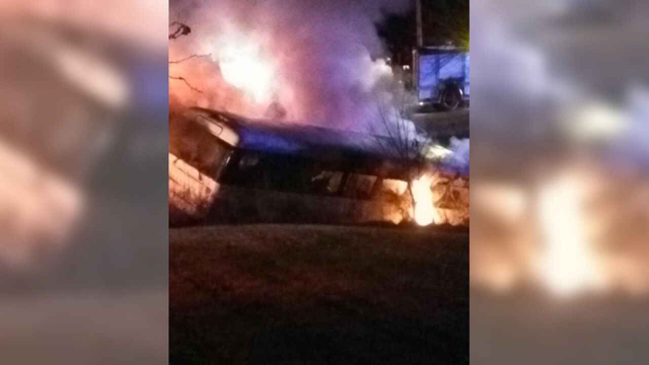 Investigation Continues Into Bus Fire Injures 11