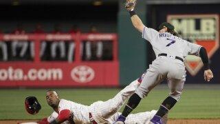 Brendan Rodgers makes MLB debut for Rockies