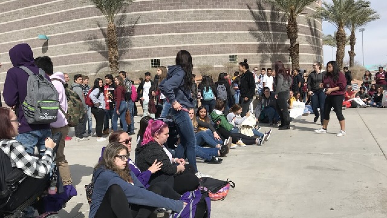 Silverado High School students walk out