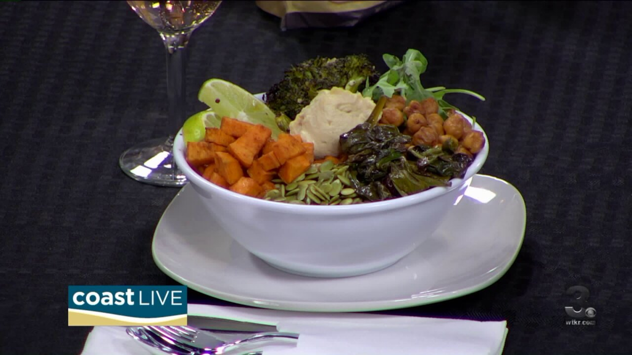 Making quinoa power bowls with Chef Jacqui on Coast Live
