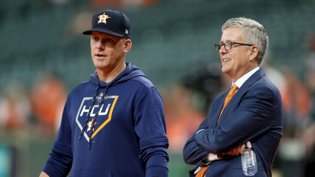 Astros' manager, general manager suspended for 2020 season for their role in sign-stealing scandal