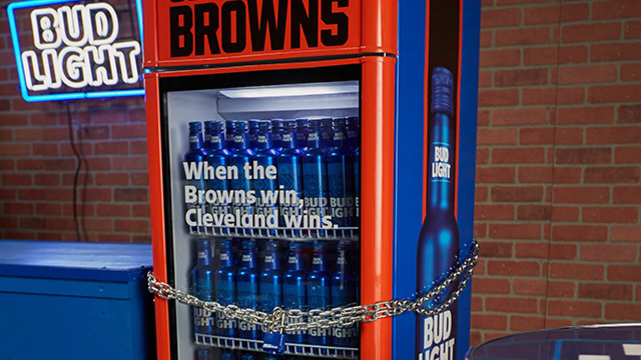 Bud Light selling mini victory fridges to honor Cleveland Browns