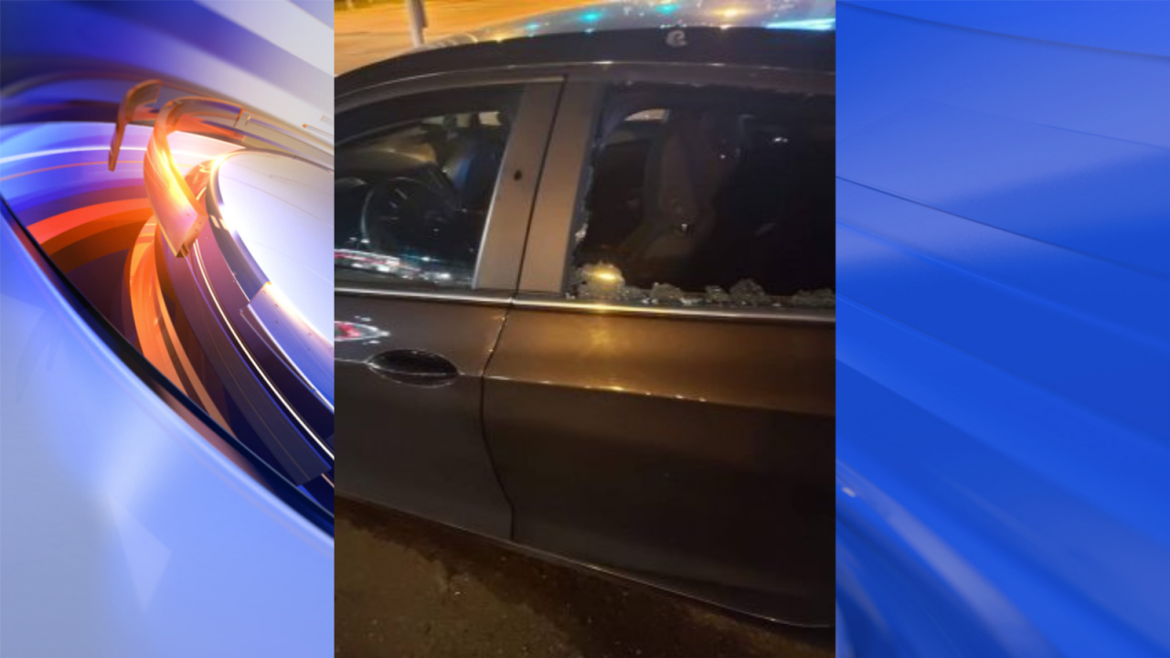 Car riddled with bullets after Norfolk shooting