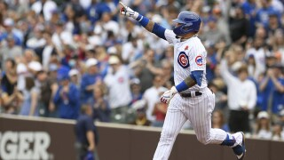 Padres Cubs Baseball javier baez