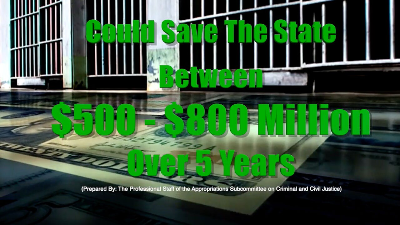 Proposed Florida criminal reform bill could save Florida $500 to $800 million over five years