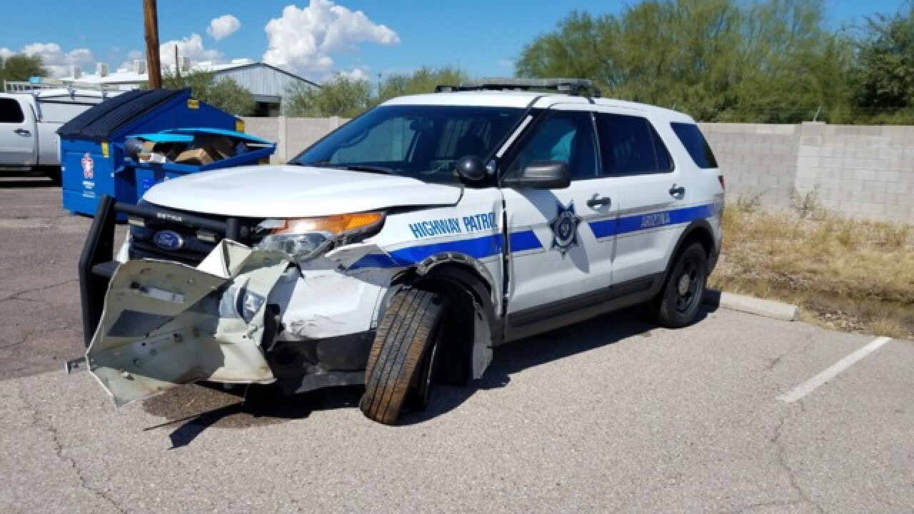 Trooper intentionally hits wrong-way driver