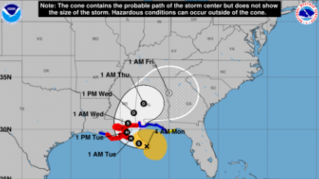 Sally expected to become a hurricane before making landfall in coming days