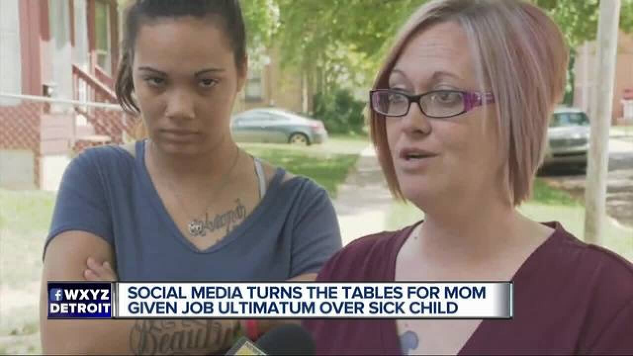 Mother forced to choose between work and child