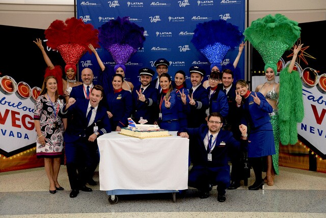 PHOTOS: Inaugural flight of LATAM Airlines from Brazil to Las Vegas