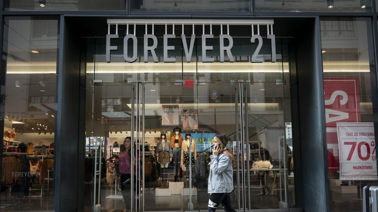Forever 21 filed for bankruptcy and will close hundreds of stores
