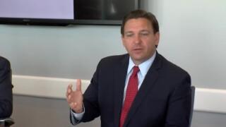 Florida Gov. Ron DeSantis holds a news conference in Sarasota on June 11, 2021.jpg