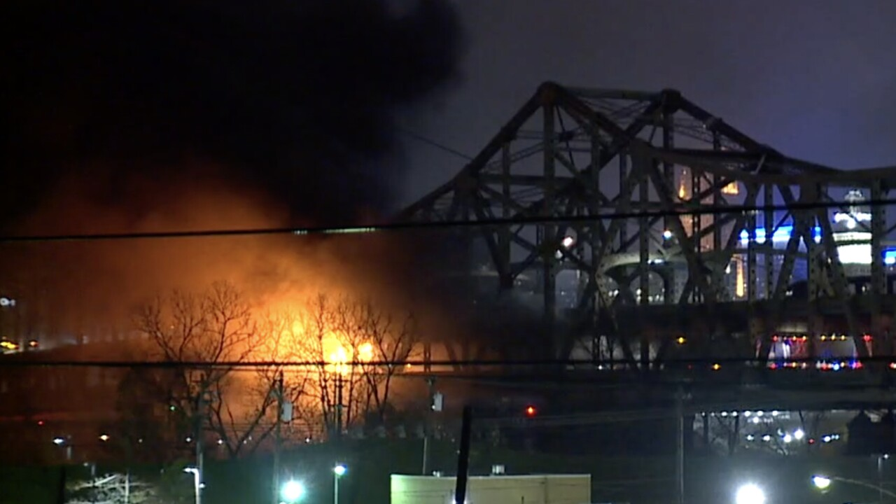 Semi crash and fire close Brent Spence Bridge Wednesday morning