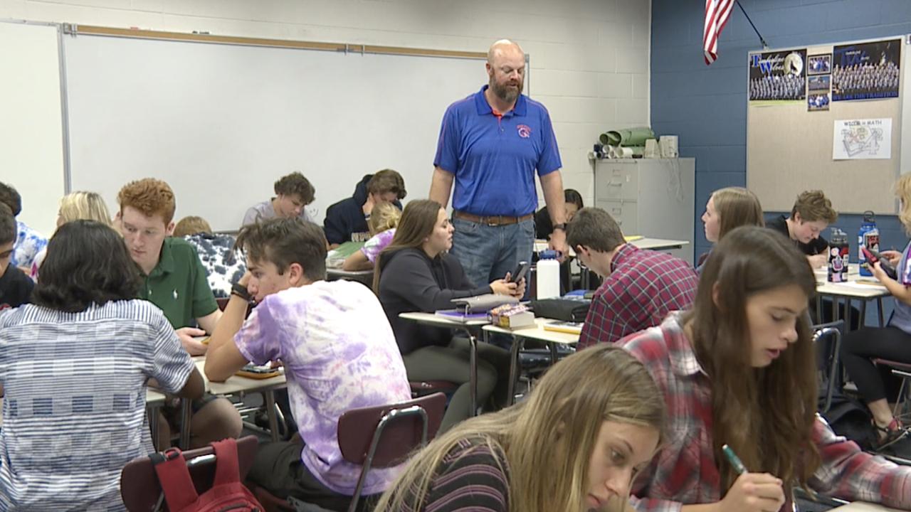 Local math teacher earns nomination for national award