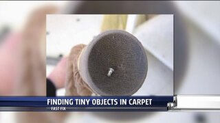 Recovering lost small objects in the carpet