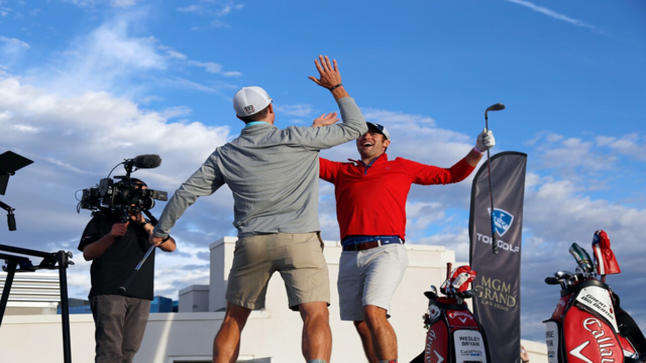 Bryan Bros hit insane trick shot from rooftop