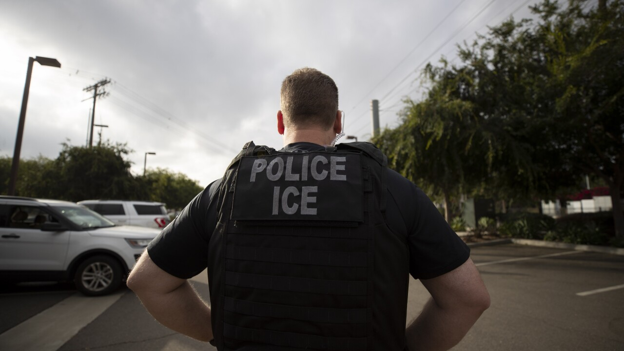 Immigration ICE agent
