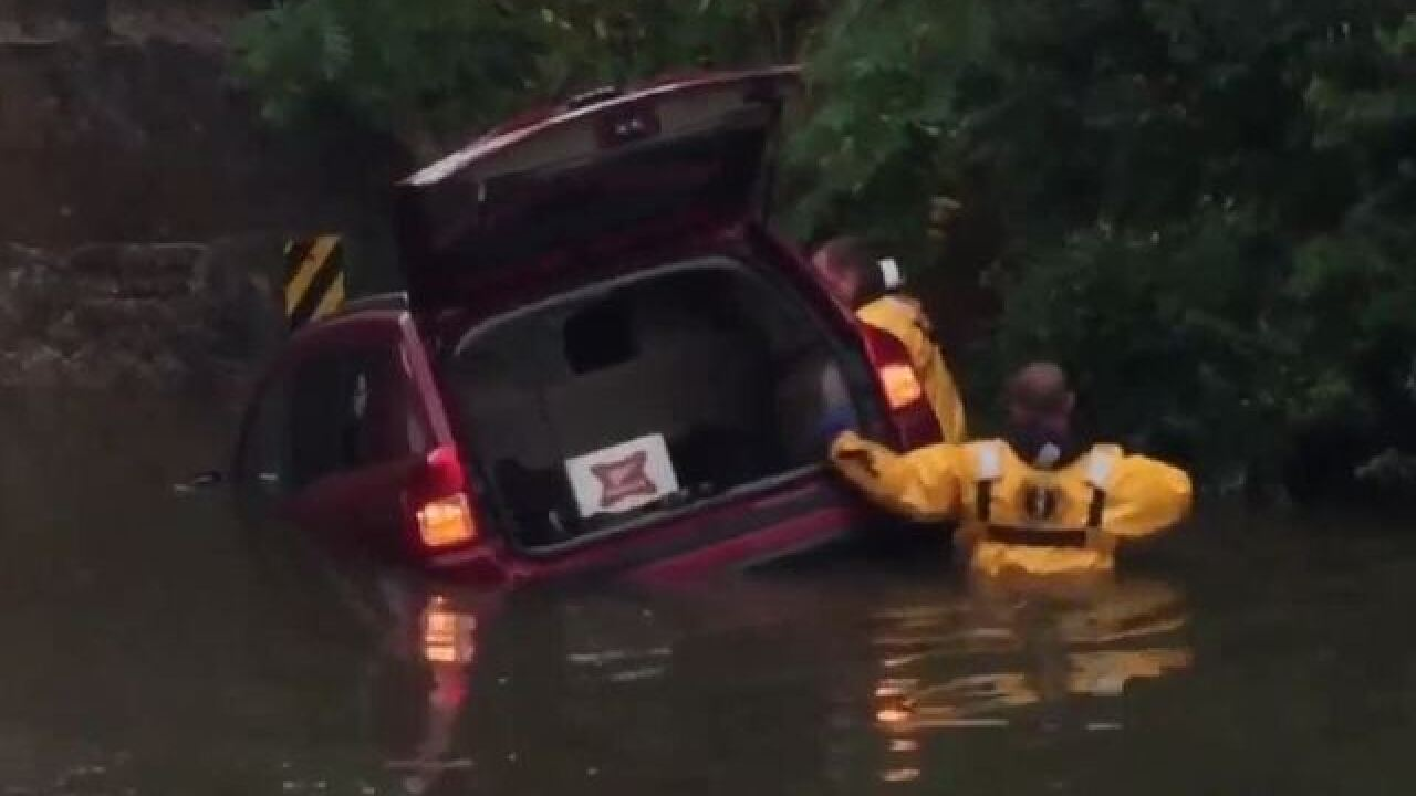 Multiple cars flooded out in Watertown [VIDEO]
