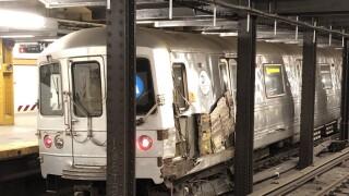 subway train derailment manhattan