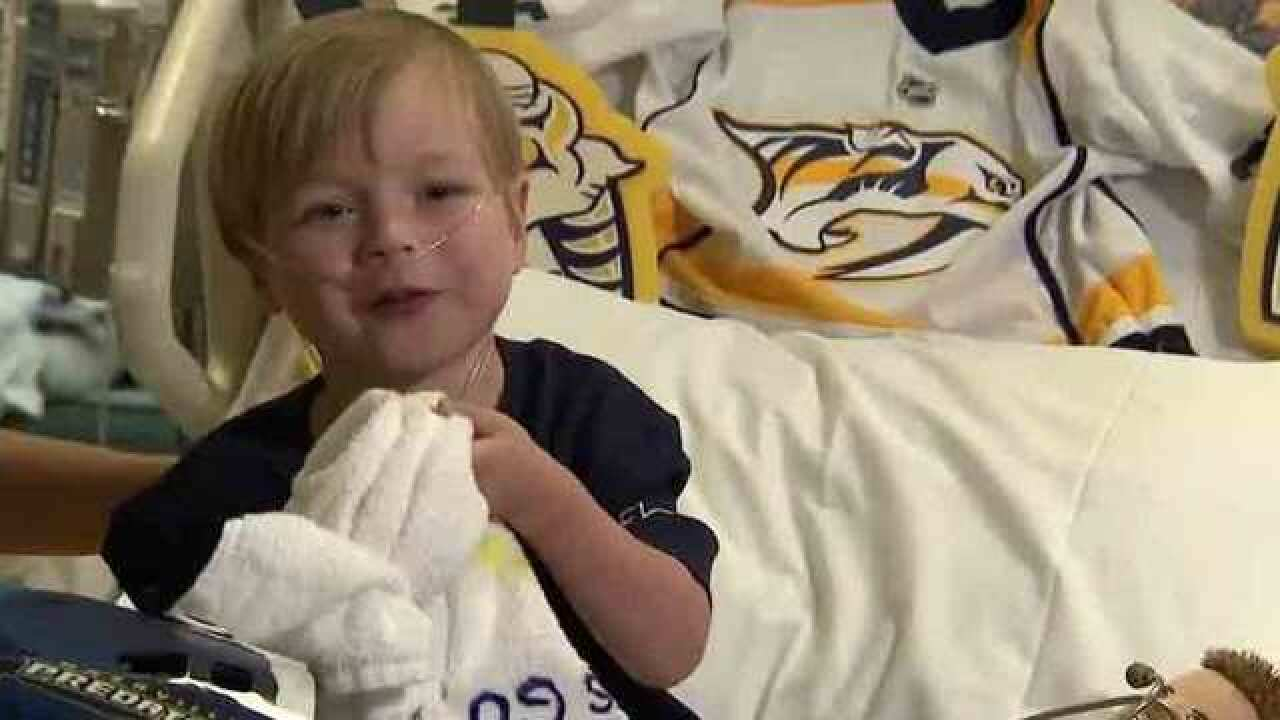 Preds Bring Happiness To Young Hockey Fan