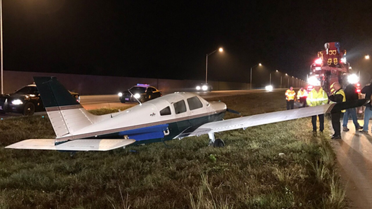 Small plane lands on I-95 in Florida