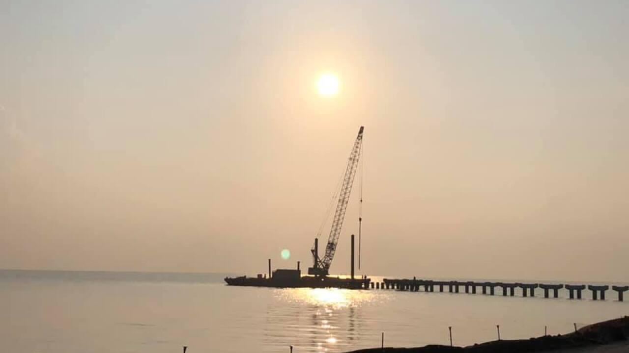 Hazy, hot and sunny over Corpus Christi Bay - Photo By: FB Coastal Bend Weather Watcher Rene Vela
