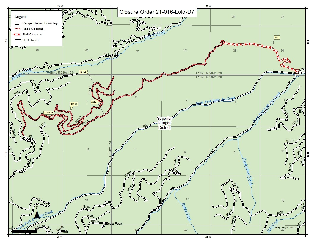 Closure Order Two Mile Fire Map