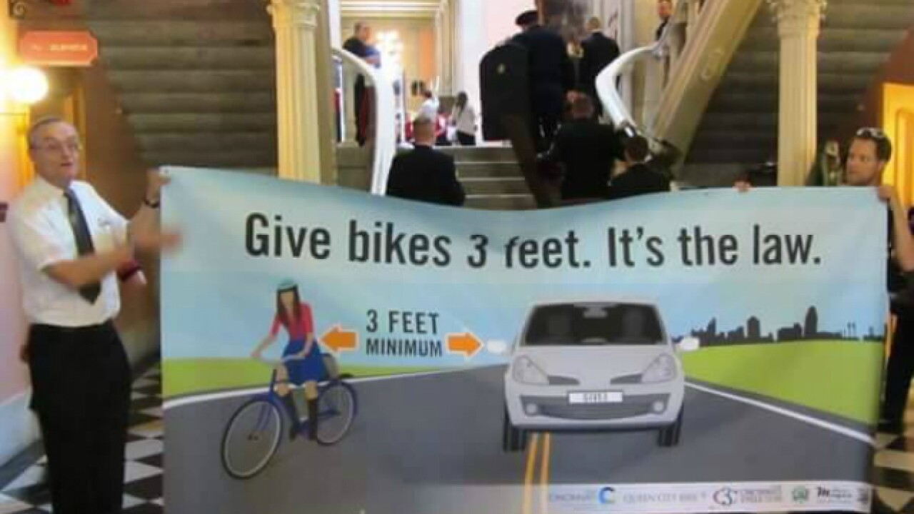 'Give bikes 3 feet': New safe-passing law set to enact Tuesday for Ohio cyclists