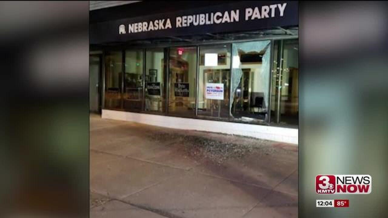 Nebraska GOP headquarters vandalized