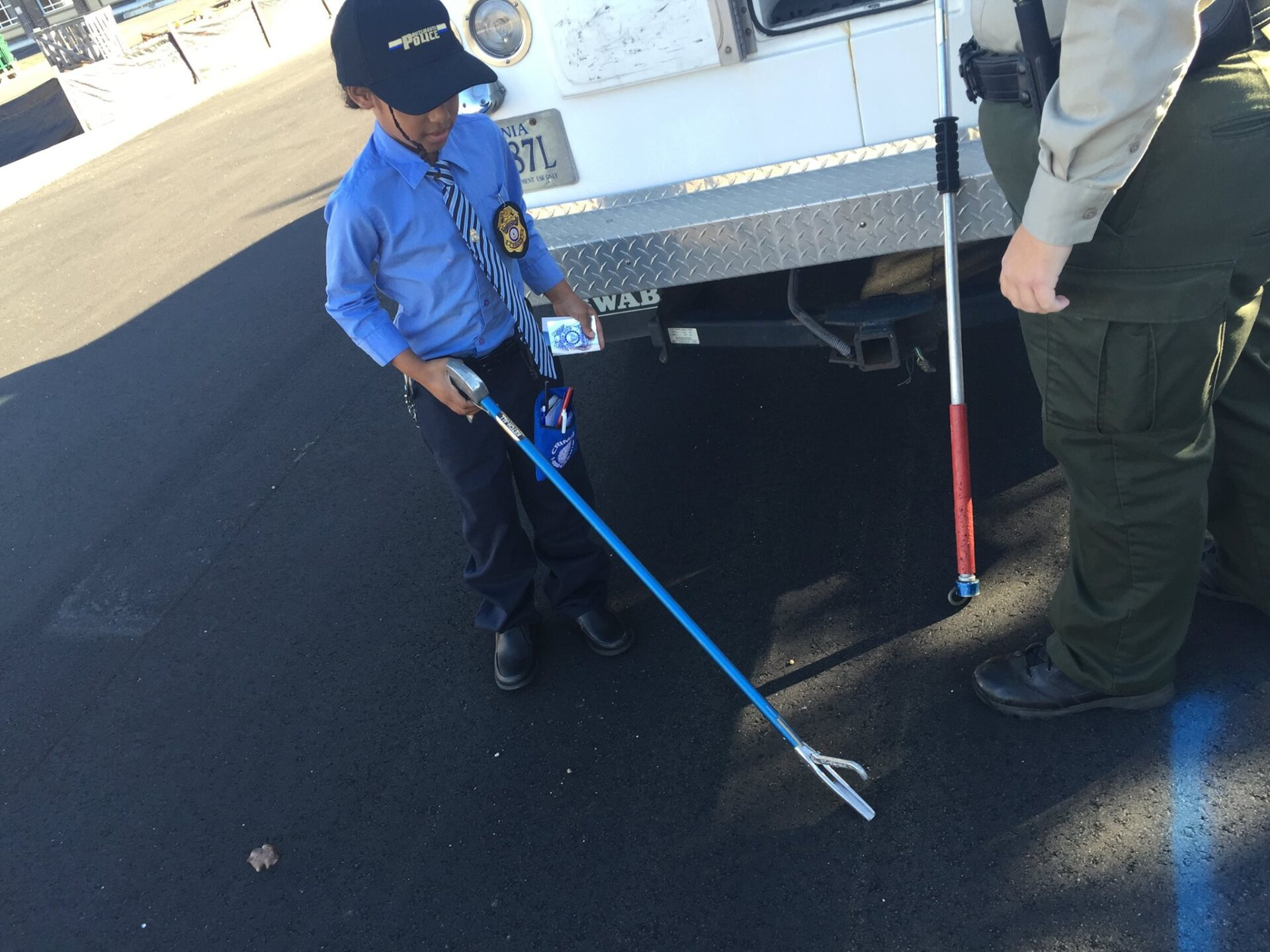 Photos: 8-year-old author becomes Portsmouth Police Detective for aday