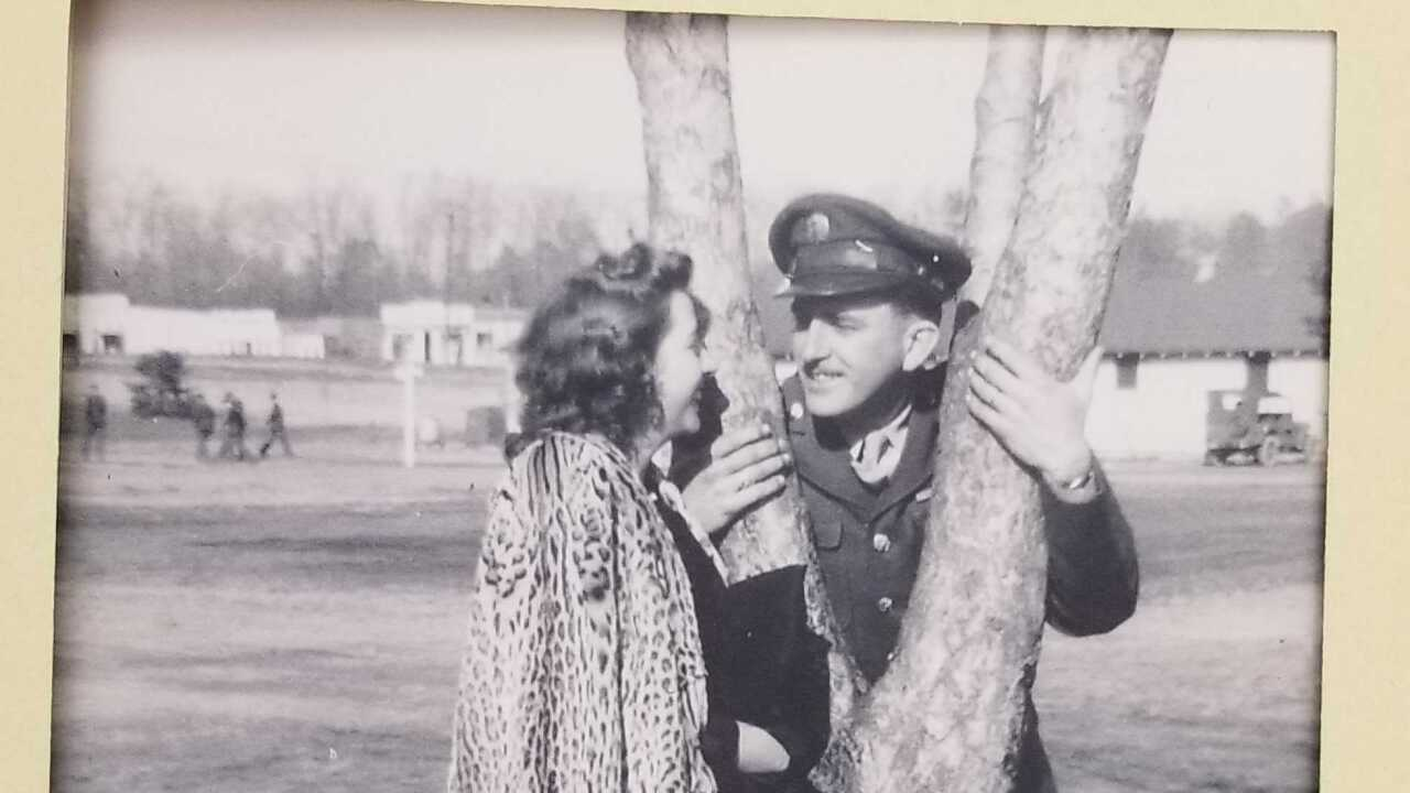Julian Wills and Mary  Frances Spiegel 1943
