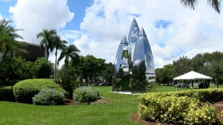 A new rocket sculpture at the Boca Raton Innovation Campus on Sept. 20, 2021.jpg