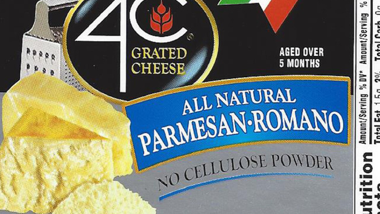 4C Foods Corp. recalls grated cheese over Salmonella concerns