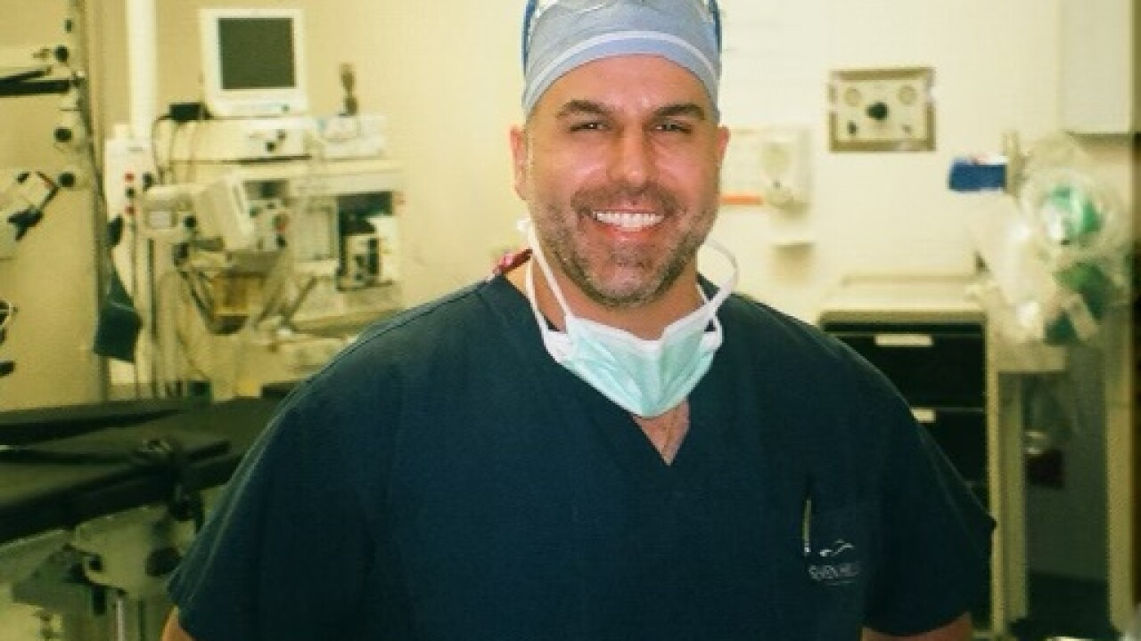 Patient Ashleigh Cope and plastic surgeon Dr. Christopher Khorsandi