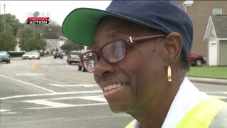 People Taking Action: Norfolk crossing guard gives encouraging words to students everymorning