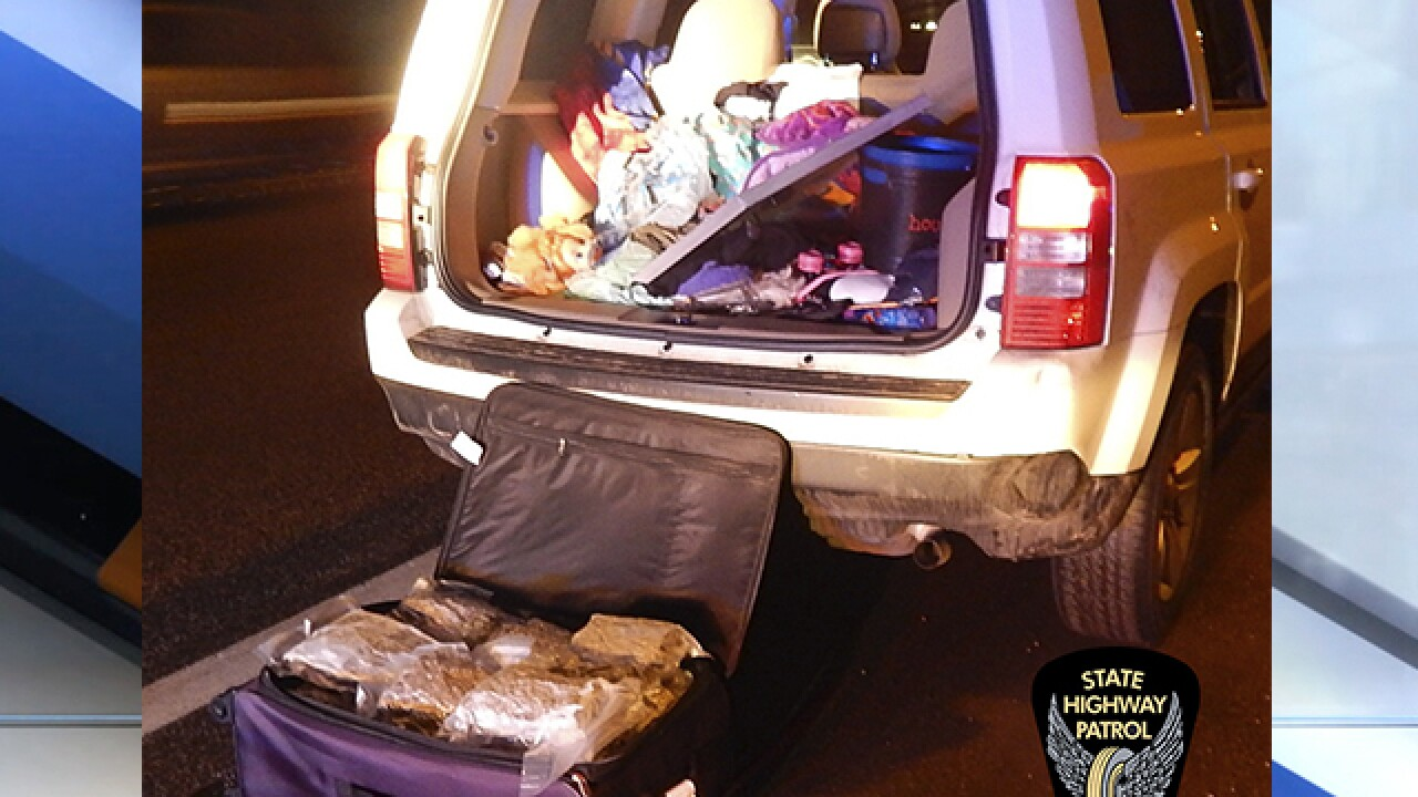 Troopers find suitcase with $96,000 worth of marijuana during traffic stop on Interstate 71