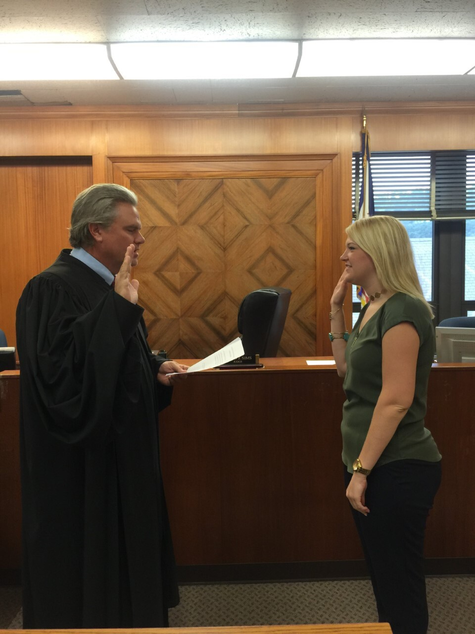 Tessa DiTirro Court Advocate Swearing In