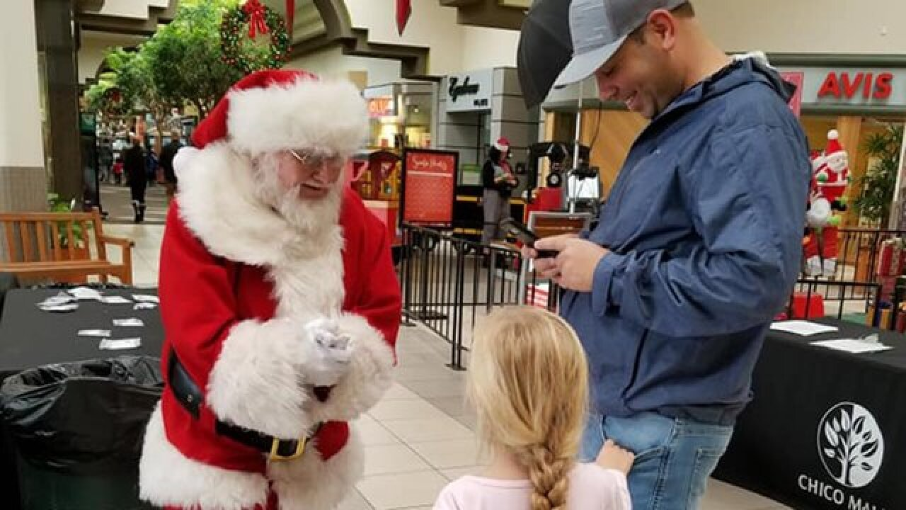Children in California are asking Mall Santa for homes, after wildfires