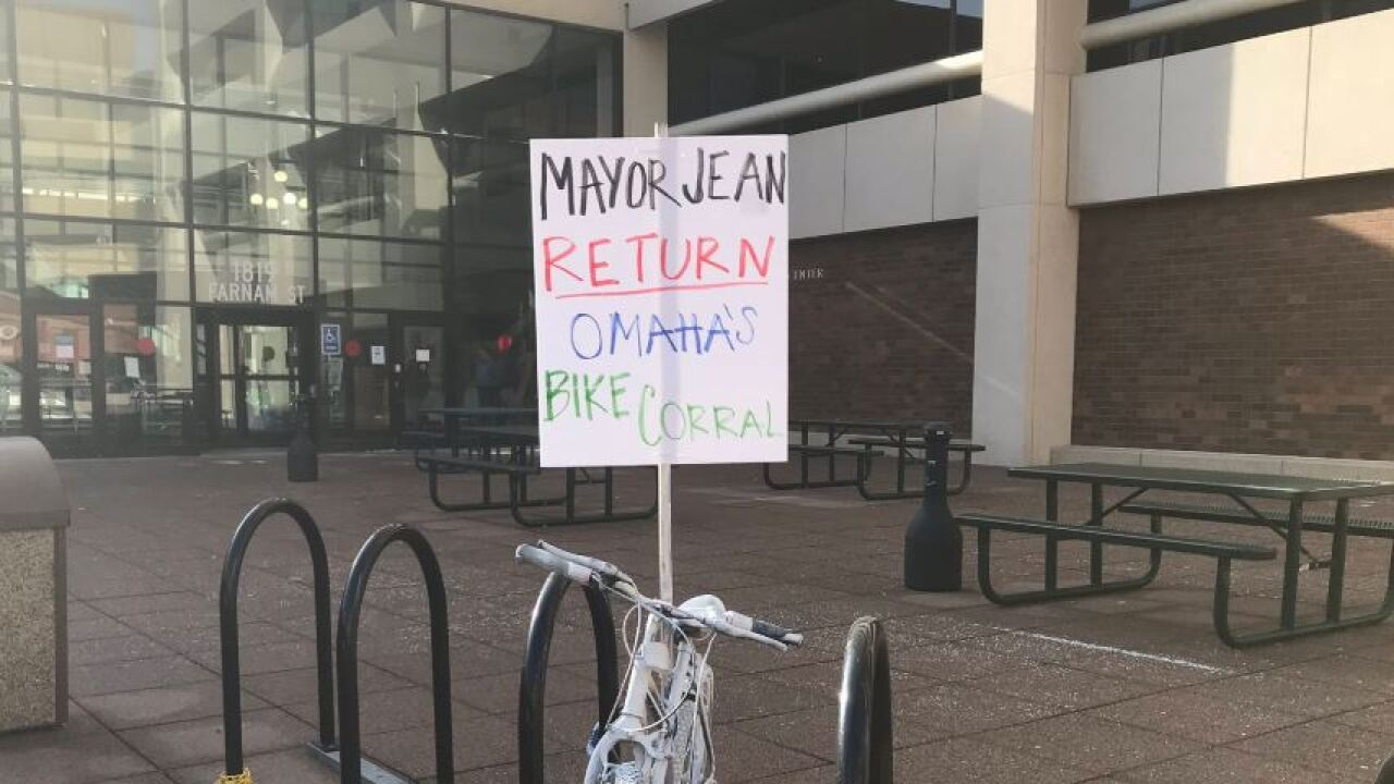bike corral art installation protest