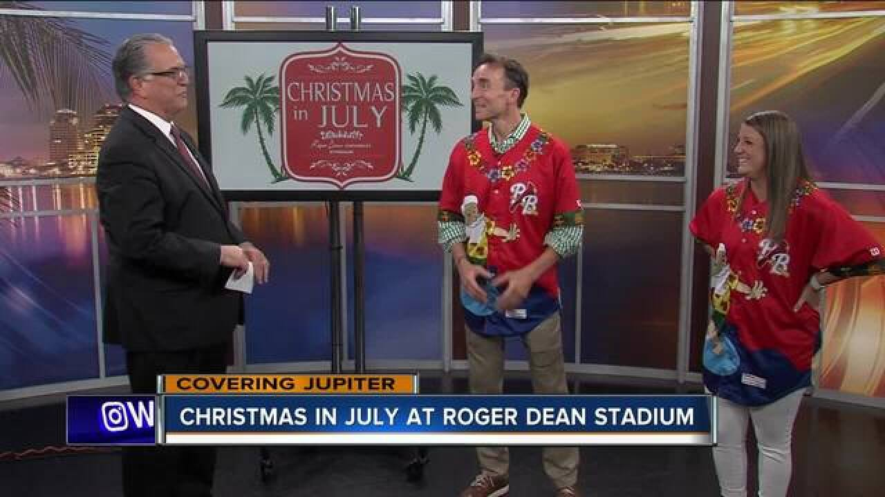 Christmas in July at Roger Dean Stadium on July 21