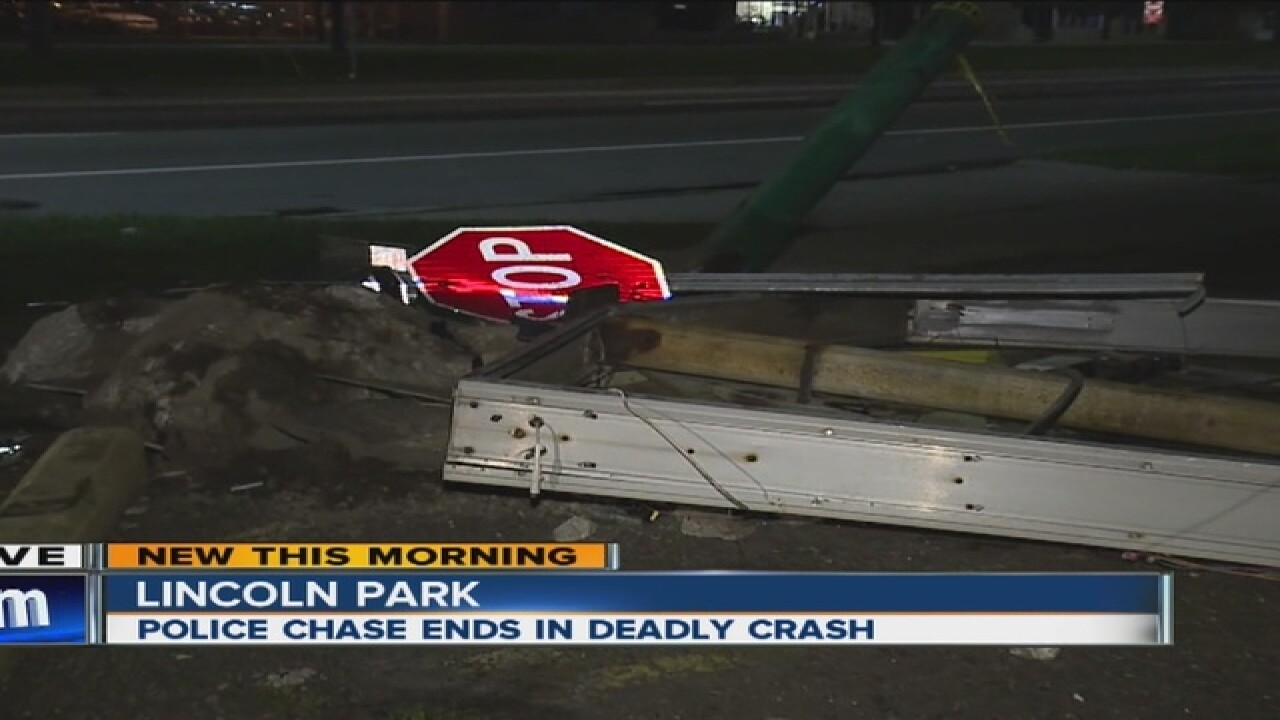 1 dead after police chase through Lincoln Park